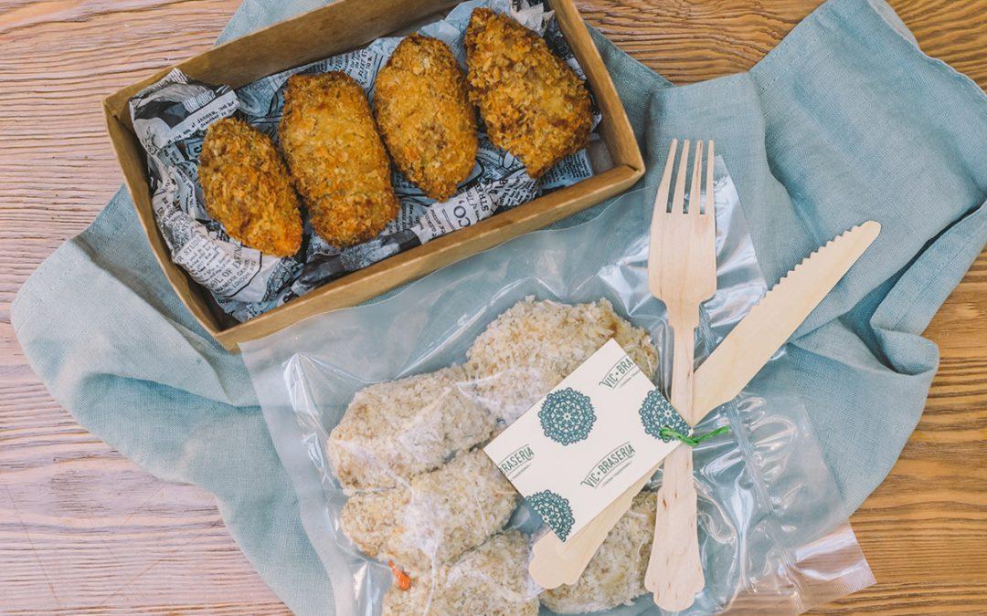 Croquetas caseras de pollo o ternera envasadas al vacio